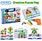 Детский конструктор с шуруповертом Creative Puzzle 193 детали TLH-28 игровая мозаика с инструментом, фото 2