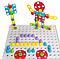 Детский конструктор с шуруповертом Creative Puzzle 193 детали TLH-28 игровая мозаика с инструментом, фото 5