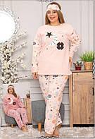 Зимняя женская пижама большого размера из махры и флиса, фото 1