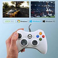 Геймпад джойстик USB для Xbox 360 и компьютера ПК Windows 7, 8, 10