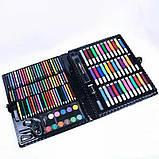 Детский Набор для рисования и творчества Art set 150 предметов в кейсе ( Розовый, Черный ), фото 4