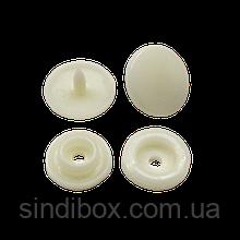 Кнопки пластикові кольорові Ø 11,7 мм Молочні (100 компл.) (СИНДТЕКС-0748)