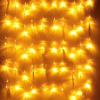 Светодиодная гирлянда Водопад Штора 3х2 400 LED Теплый Белый Новогодний Занавес с эффектом дождя на окно 400-W