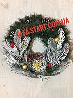 Новогоднее украшение на дверь Венок 35см с Ангелом