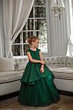 Платье Елочка Длинное нарядное изумрудное платье Бетси, фото 2
