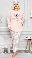 Махровая женская пижама большого размера зима 2021