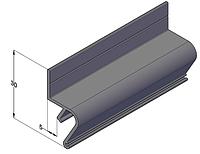 Теневой алюминиевый профиль для натяжных потолков 2,5 м Чёрный цвет