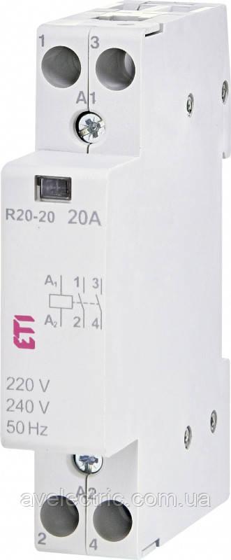 Контактор модульный RD 20-02 230V AC/DC, ETI, 2464008