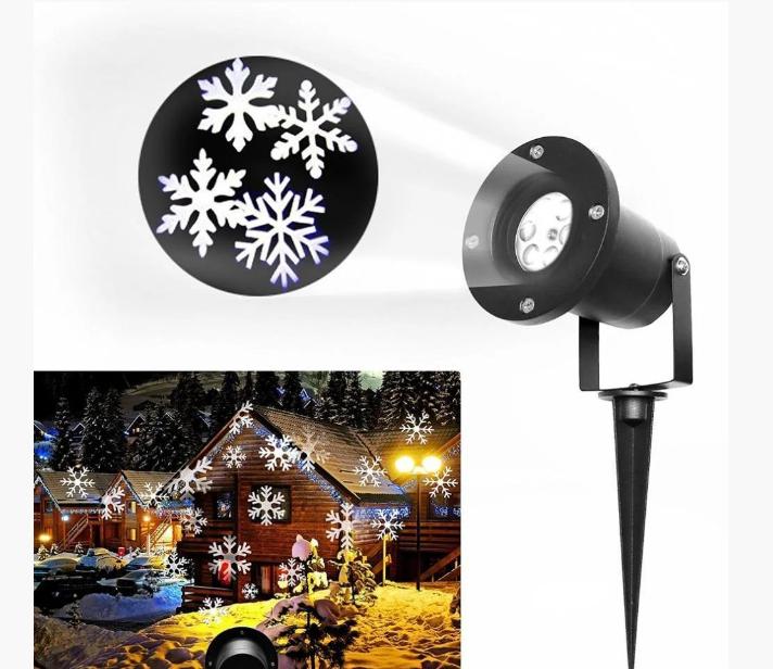 Лазерный проектор фасадный Star Shover Снег Snowflake 608
