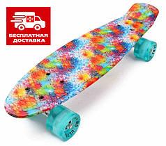 Скейт Пенни борд Penny Board Ultra Led 22 Paint - Пенні борд Краски 54 см