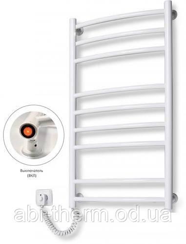 Полотенцесушитель Лестница-9 белый 885x480 (левое подключение)