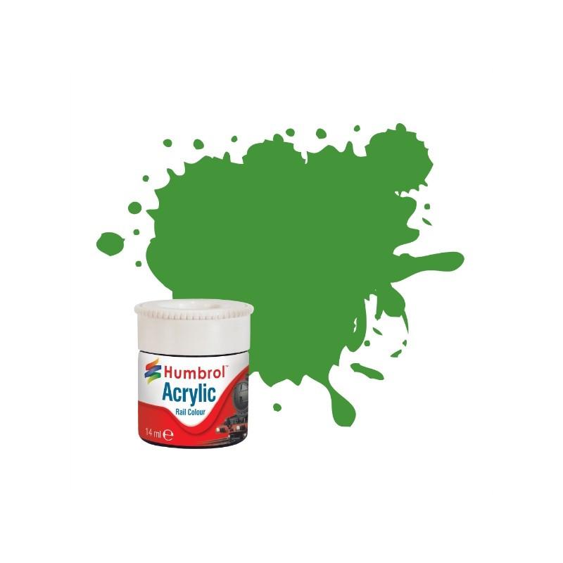 Зеленый яблочный матовый. Краска водорастворимая акриловая. HUMBROL 408