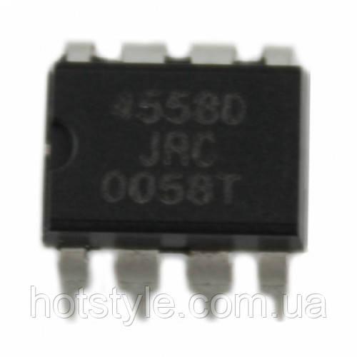 Чип JRC4558D JRC4558 DIP8, Операционный усилитель 2-канальный, 104384