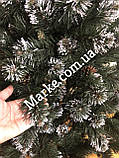 Елка искусственная из ПВХ с белыми кончиками и шишками Лидия 1.5м 1.8м 2м 2.2м 2.5м 3м ( ялинка ), фото 8