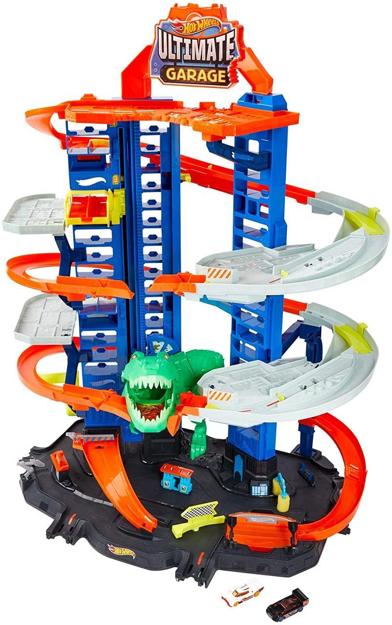Легендарний гараж Хот Вілс з динозавром Hot Wheels City Robo T-Rex Ultimate Garage