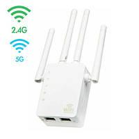 Беспроводной Wi-Fi репитер сигнала, 2.4 + 5ГГц, 20 dBi, AC1200