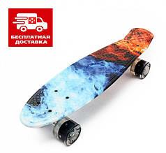 Пенни борд Penny Board Пенні Print Led 22 -  Скейт Огонь и Лед 54 см