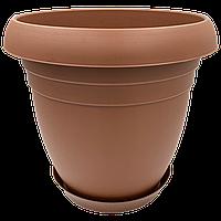 Горшок для цветов Nergiz 10,5 л коричневый, фото 1