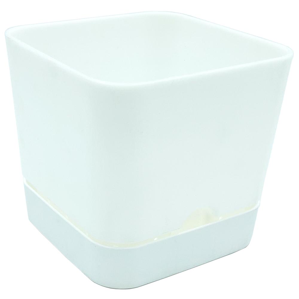 Горшок для цветов квадратный Begonya 1,5 л белый
