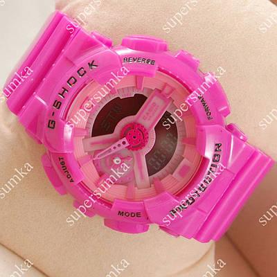 Яркие спортивные часы Casio GA-110 Pink 623