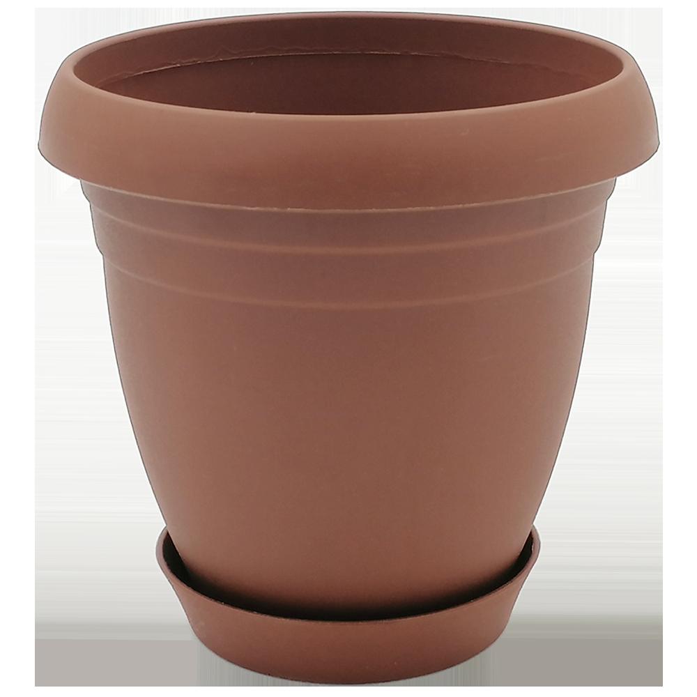 Горшок для цветов Nergiz 3,5 л коричневый