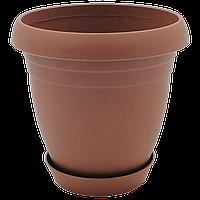 Горшок для цветов Nergiz 3,5 л коричневый, фото 1