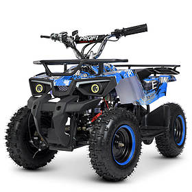 Детский (подростковый) квадроцикл электрический Profi (мотор 800W, 3 аккум) HB-ATV800AS-4 Синий