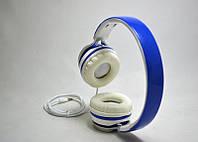 Накладные наушники проводные Nike NK-210 синие, кабель 1,2м, mini jack, наушники Nike