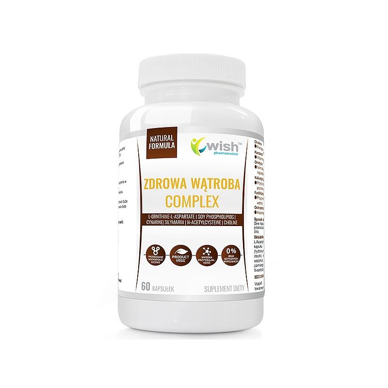 Витамины для поддержки печени, Артишок, Холин, Расторопша 60 caps, Wish