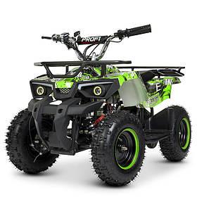 Дитячий (підлітковий) квадроцикл електричний Profi (мотор 800W, 3 акум) HB-ATV800AS-5 Зелений