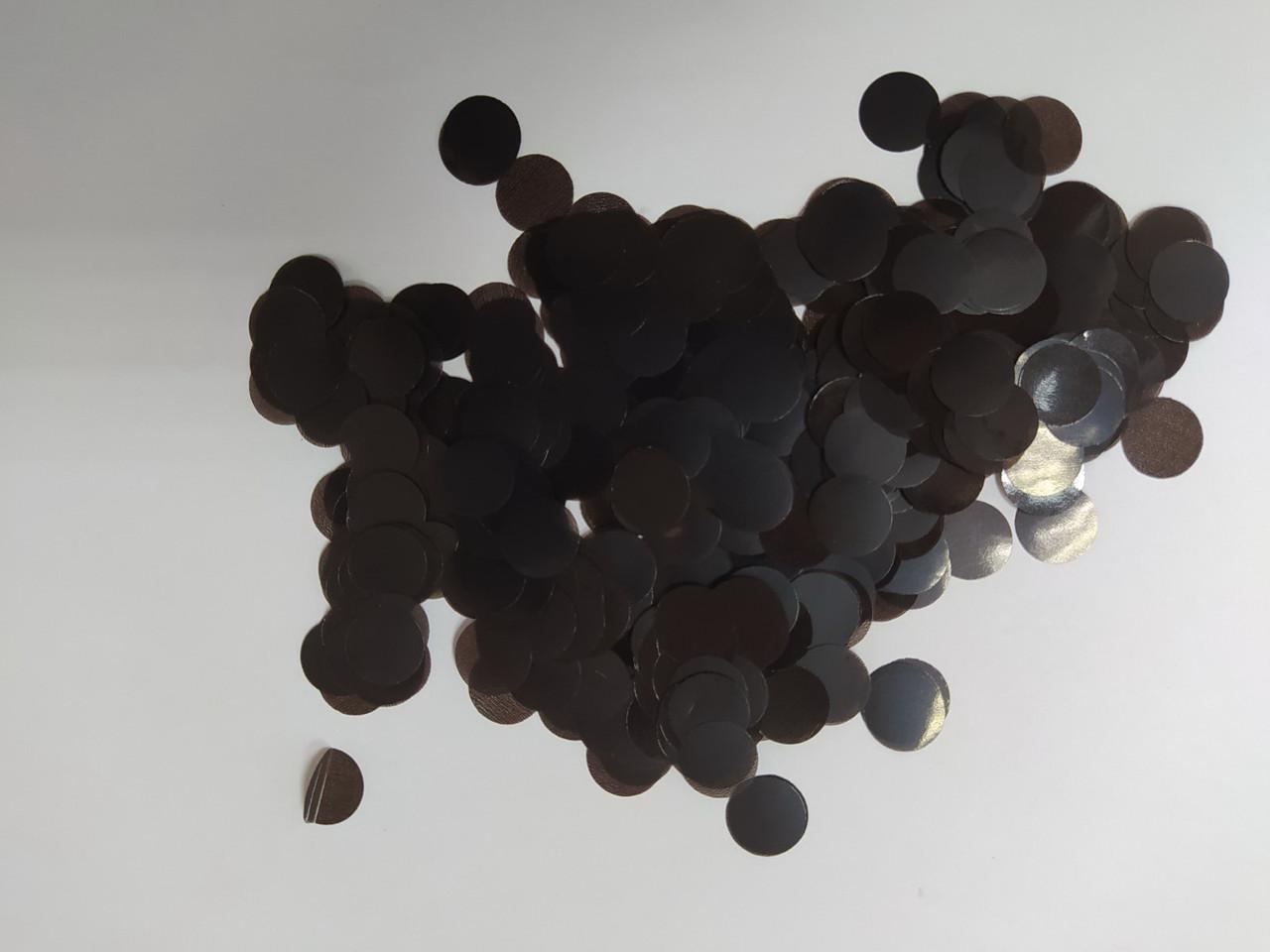 Аксесуари для свята конфеті кружечки чорний 12 мм х 12 мм 100 грам