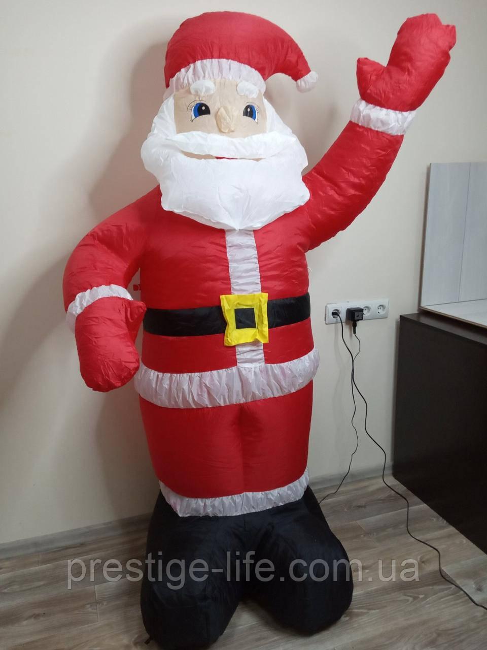 Надувной Дед Мороз 1.8 метра ( Светится в темноте)