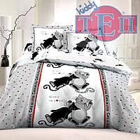 Полуторное постельное белье ТЕП Коты