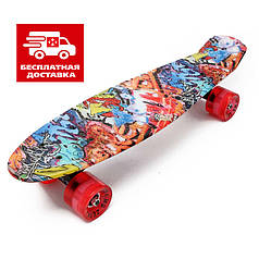 Скейт Пенни борд Penny Board Ultra Led 22 Joker - Пенні борд Джокер 54 см
