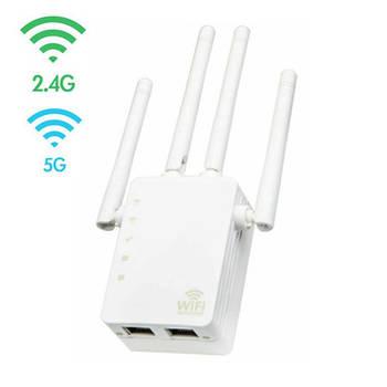 Беспроводной Wi-Fi репитер сигнала, 2.4+5ГГц, 20 dBi, AC1200