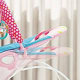 Детский напольный музыкальный шезлонг-баунсер Mastela сине-розовый цвет. кресло качалка для детей, фото 4