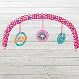 Детский напольный музыкальный шезлонг-баунсер Mastela сине-розовый цвет. кресло качалка для детей, фото 9