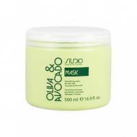 Kapous Маска увлажняющая  для волос с маслами авокадо и оливы 500мл