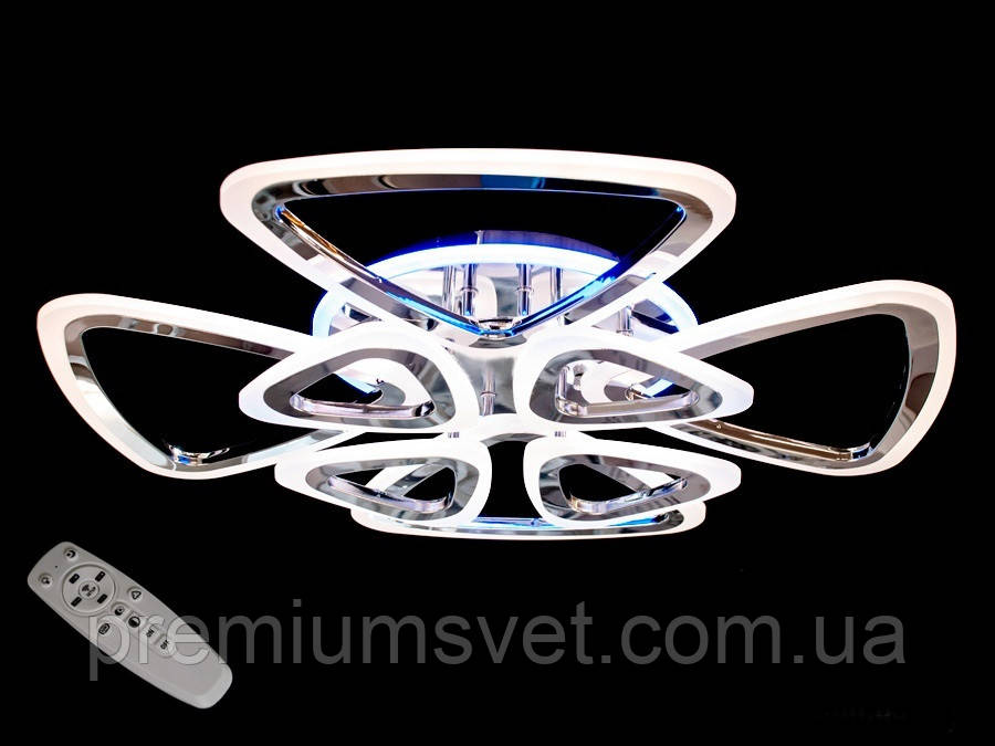 Потолочная светодиодная люстра в золоте  A8118/4+4 G LED 3color dimmer