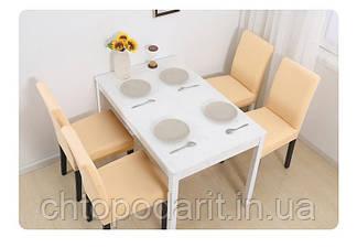 Чехол на стулья универсальный для мебели цвет бежевый  Код 14-0706