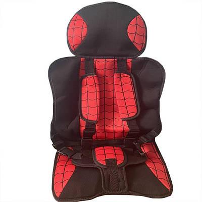 Детское автокресло кресло автомобильное до 12 лет бескаркасное Красное 183015