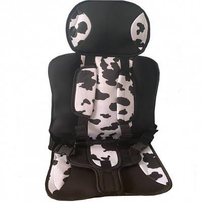 Детское бескаркасное автокресло Multi-function car cushion до 12 лет Белый с черным 183018