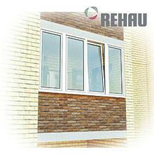Окно металлопластиковое Rehau 3000 x 1360 | Лоджия