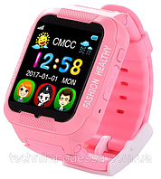 Детские умные часы для девочек Smart Watch K3 розовые, 380 мАч, IPS, 2Мп, сенсор, влагонепроницаемый,