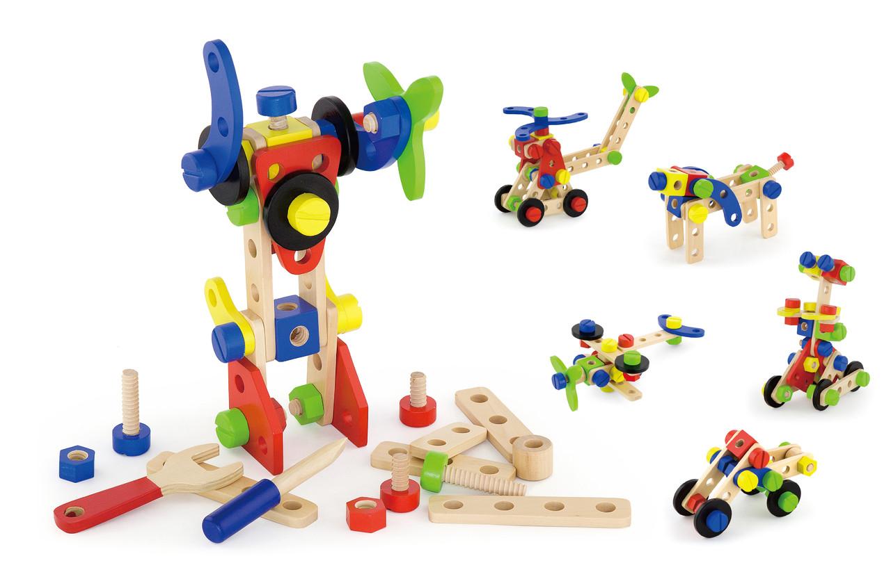 Деревянный конструктор 68 эл. Viga Toys 50382