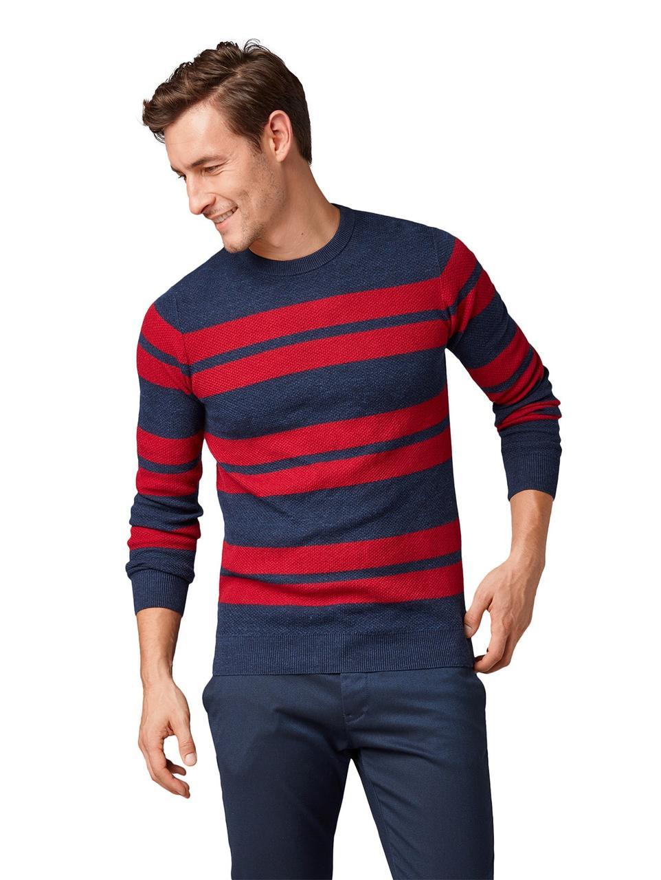 Джемпер Tom Tailor 1004938 XXL Синий с красным