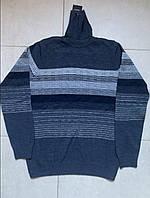 Тёплые турецкие мужские свитера с отворотом гольфы водолазки