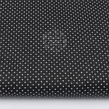 Лоскут ткани с мелкими белыми точками 2 мм на чёрном фоне, №2813, размер 18*145 см, фото 2
