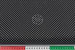 Лоскут ткани с мелкими белыми точками 2 мм на чёрном фоне, №2813, размер 18*145 см, фото 3