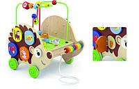 Деревянная каталка Ежик с бизибордом Viga Toys 50012, фото 1